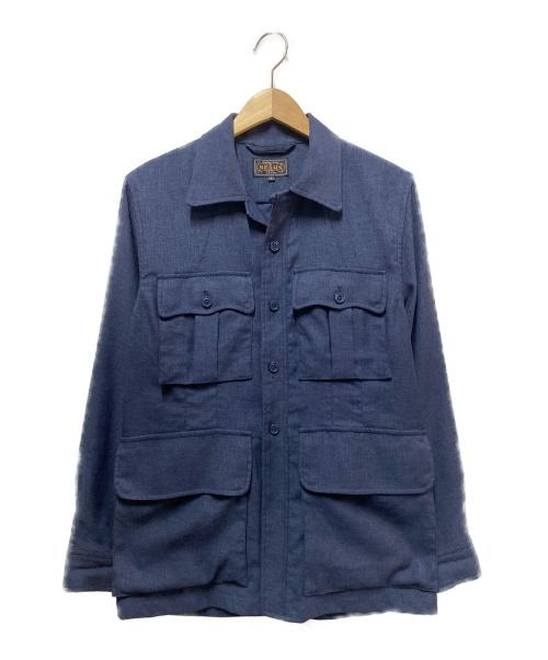 BEAMS PLUS(ビームスプラス)BEAMS PLUS (ビームスプラス) ツイルミリタリートロピカルジャケット ネイビー サイズ:Sの古着・服飾アイテム