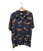 ()の古着「モスラリゾートシャツ」|ブラック
