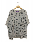 ()の古着「総柄ポケットTシャツ」|ライトグレー