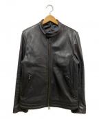 BEAMS Lights(ビームスライト)の古着「ラムレザーシングルライダースジャケット」|ブラック