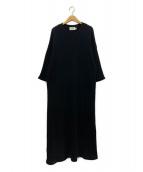Traditional Weatherwear(トラディショナルウェザーウェア)の古着「スリットロングサーマルワンピース」|ブラック