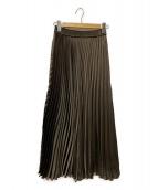 SLOBE IENA(スローブ イエナ)の古着「サテンプリーツスカート」|ブラウン