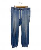 R.H.Vintage(ロンハーマン・ヴィンテージ)の古着「ウォッシュ加工インディゴスウェットパンツ」 ブルー