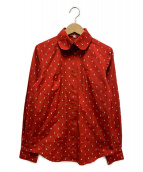 Vivienne Westwood RED LABEL CHOICE(ヴィヴィアンウエストウッドレッドレーベル チョイス)の古着「ラウンドカラーシャツ」|レッド