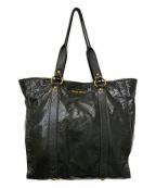 MIU MIU(ミュウミュウ)の古着「パテントレザートートバッグ」|グレー