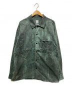 Liberaiders(リベライダーズ)の古着「オーバーダイロングスリーブシャツ」 グリーン
