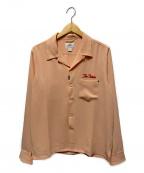 THE CRIMIE(ザ クライミー)の古着「オープンカラーニードルワークシャツ」|ピンク