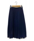 ()の古着「シアープリーツスカート」|ネイビー