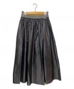 ebure()の古着「サテンシルクイージースカート」|グレー