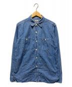 ()の古着「ダックディガーデニムシャツ」 ブルー