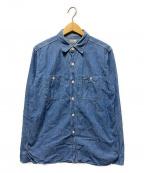WAREHOUSE(ウェアハウス)の古着「ダックディガーデニムシャツ」|ブルー