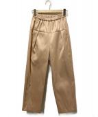NAVY.WO(ネイビー・ウォ)の古着「サンジェルマンツイルタックパンツ」 ベージュ