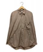 ()の古着「ビッグシルエットレギュラーカラーシャツ」|ベージュ