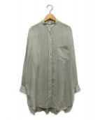 JOURNAL STANDARD relume(ジャーナルスタンダード レリューム)の古着「リヨセル製品染めロングシャツ」|ミント