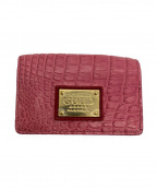 COCOCELUX GOLD(ココセリュックスゴールド)の古着「シャイニングパイソンミニウォレット」|ピンク