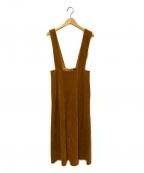 To b. by agnes b.(トゥービーバイアニエスベー)の古着「コーデュロイジャンパースカート」|マスタード