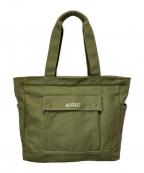 AIGLE(エーグル)の古着「ボワルジャーディンコットントートバッグ」|カーキ