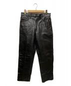 ()の古着「カウレザーパンツ」 ブラック