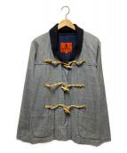 BARENA(バレナ)の古着「リネンダッフルコート」|グレー