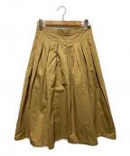 GRANDMA MAMA DAUGHTER()の古着「ボックスタックスカート」|ブラウン
