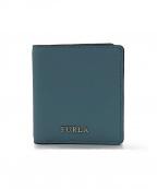 FURLA()の古着「2つ折り財布」|ブルー
