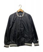 ()の古着「ナイロンバーシティジャケット」 ブラック