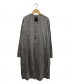pas de calais(パドカレ)の古着「コットンノーカラーコート」|グレー