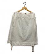 MACPHEE(マカフィー)の古着「コットンライトデニムバスクシャツ」|ホワイト