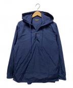 A vontade(アボンタージ)の古着「フーデッドプルオーバーシャツ」|ネイビー