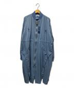 CHRISTIAN DADA(クリスチャンダダ)の古着「OIRAN-DOCHUロングブルゾン」 ブルー