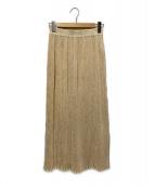 ()の古着「シワプリーツロングスカート」|アイボリー