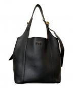 NINA RICCI(ニナリッチ)の古着「レザーハンドバッグ」|ブラック