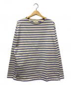 UNFIL(アンフィル)の古着「ヴィンテージコットンブレトンバスクシャツ」|ホワイト×ブルー