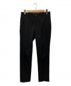 BALENCIAGA()の古着「センタープレスパンツ」|ブラック