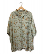 ()の古着「ヴィンテージアロハシャツ」 スカイブルー