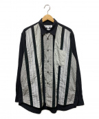 COMME des GARCONS SHIRT()の古着「クレイジーパターンシャツ」 ブラック