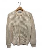 TOMORROW LAND tricot(トゥモローランドトリコ)の古着「模様編みクルーネックニット」|ホワイト