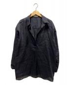 ()の古着「リネンシャツ」 ブラック