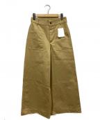 Noble(ノーブル)の古着「コンパクトチノフロントポケットワイドパンツ」|ベージュ