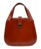 ()の古着「ヴィンテージレザーハンドバッグ」|ブラウン
