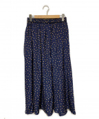 journal standard luxe(ジャーナルスタンダード ラックス)の古着「ドットロングスカート」|ネイビー