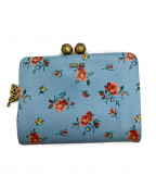 ANNA SUI(アナスイ)の古着「2つ折り財布」 ライトブルー