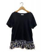 ()の古着「ツイードフリンジTシャツ」|ブラック