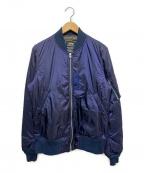 ALPHA(アルファ)の古着「フライトジャケット」|ネイビー