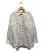 ()の古着「製品染めバックロングシャツ」 ホワイト
