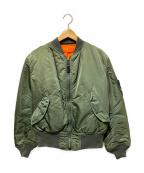 ALPHA()の古着「90'sMA-1フライトジャケット」|カーキ