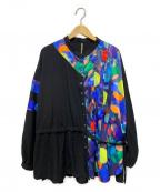 FRAPBOIS(フラボア)の古着「カンブリアンサークルシャツ」 ブラック