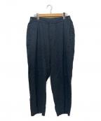 ISSEY MIYAKE MEN(イッセイミヤケメン)の古着「水面ジャガードパンツ」|ブラック