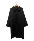 ()の古着「ズッカ柄ロングコート」|ブラック