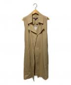 La collection(ラコレクション)の古着「ロングジレ」|ベージュ